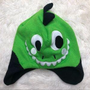 Kombi Dinosaur Winter Hat Green & Black Size 2T